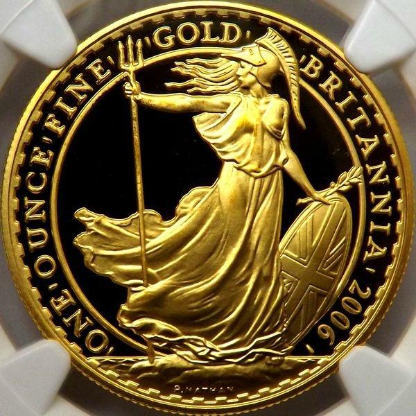 【在庫品】金貨 イギリス 2006 ブリタニア 100ポンド NGC PF69UC 最高鑑定