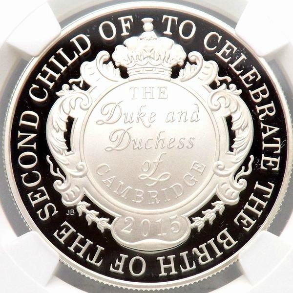 イギリス 2015 シャーロット王女誕生記念 £5 銀貨 NGC PF69UC 準最高鑑定