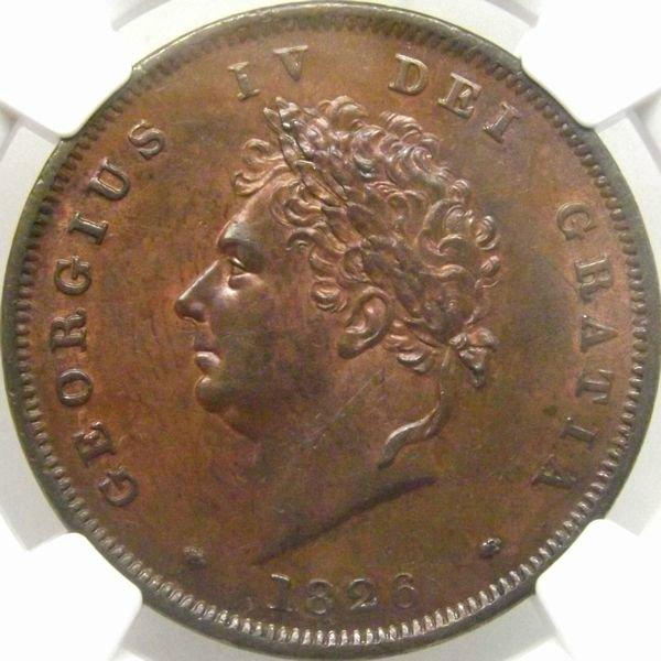 イギリス 1826年 ペニー 銅貨 ジ...
