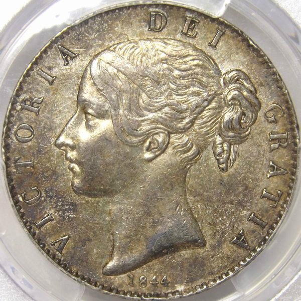 銀貨 イギリス 1844年 クラウン ...