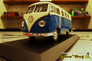 ヤトミン 1/18 1962 フォルクス ワーゲン マイクロバス ブルー スライディング・ルーフ