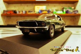 オートアート 1/18 1968 フォード マスタング GT スティーブ・マックイーン ブリット ハイランド グリーン