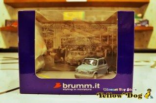 ブルム 1/43 フィアット 500 ジオラマ ライトブルー 1959 × 2 フィギュア (500 セット限定モデル)