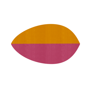 リーフ形/パンプキン&ワインレ
