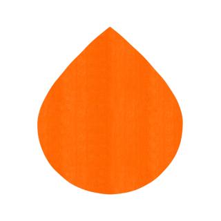 しずく形/オレンジ