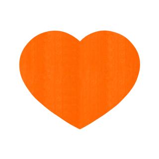 ハート形/オレンジ