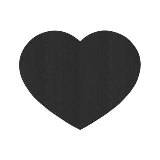 ハート形/ブラック