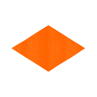 ひし形/オレンジ