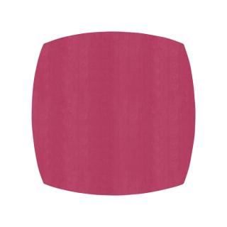 ふっくら四角形/ワインレッド