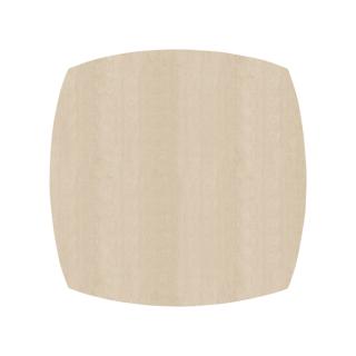 ふっくら四角形/アイボリー