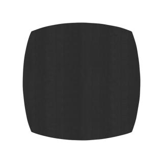 ふっくら四角形/ブラック