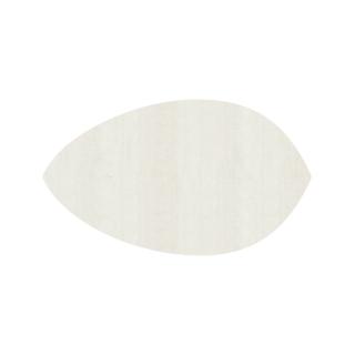 リーフ形/ミルキーホワイト