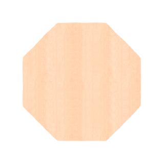 八角形/毛足長さ:カット/ピー