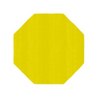 八角形/毛足長さ:カット/レモ