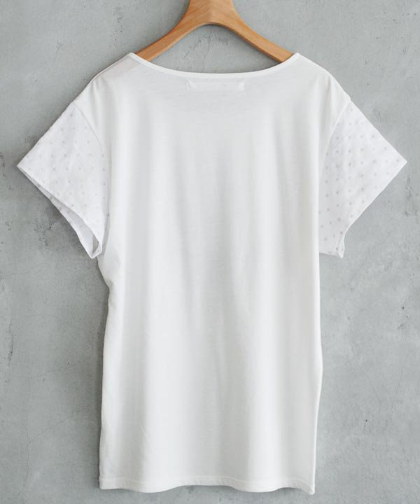 """【SALE:40%off】""""シロと、グレーと、アオと、"""" プリントTシャツ(オフホワイト×グレー)<img class='new_mark_img2' src='https://img.shop-pro.jp/img/new/icons16.gif' style='border:none;display:inline;margin:0px;padding:0px;width:auto;' />"""