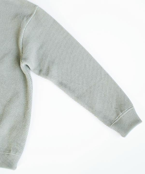 moss stitch L/S sweat(ライトグリーン)<img class='new_mark_img2' src='//img.shop-pro.jp/img/new/icons1.gif' style='border:none;display:inline;margin:0px;padding:0px;width:auto;' />