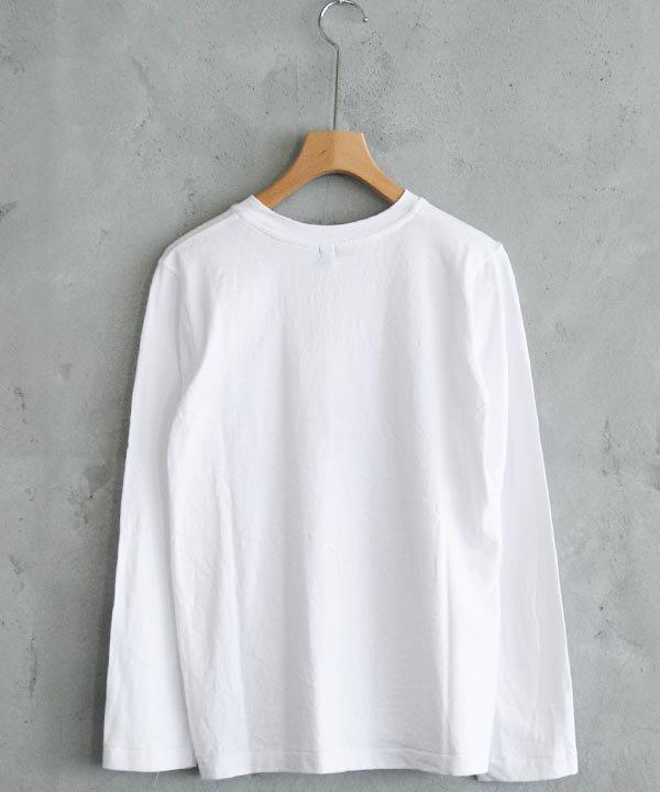 リネンコットン天竺 長袖Tシャツ(ホワイト)