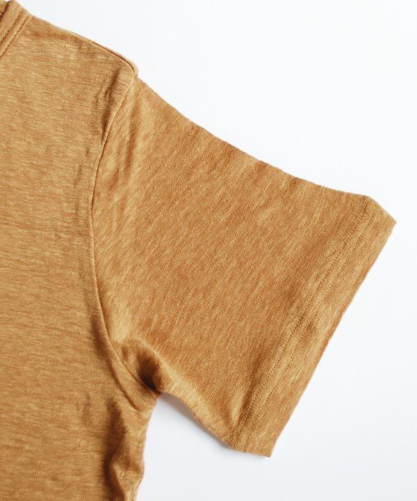 レイヤード半袖プルオーバー(キャメル)