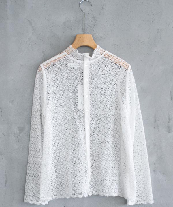Stand Collar Blouse(ホワイト)
