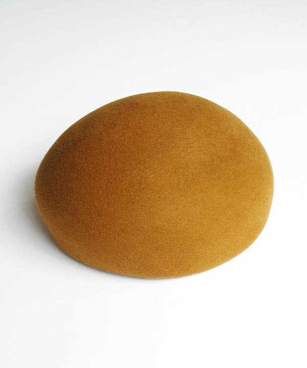 Japanese old woodenblock beret(ブラック/マスタード)