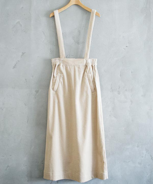 Corduroy Suspender Skirt(エクリュ)<img class='new_mark_img2' src='//img.shop-pro.jp/img/new/icons1.gif' style='border:none;display:inline;margin:0px;padding:0px;width:auto;' />