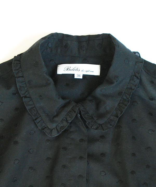 【SALE:30%off】Dot Lace Blouse(ブラック)<img class='new_mark_img2' src='https://img.shop-pro.jp/img/new/icons16.gif' style='border:none;display:inline;margin:0px;padding:0px;width:auto;' />