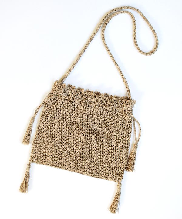 Crochet Shoulder Bag(ダークブラウン)