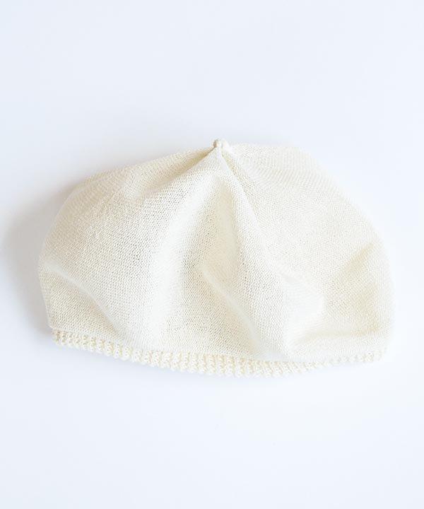 beret top gather big silk(アイボリー)