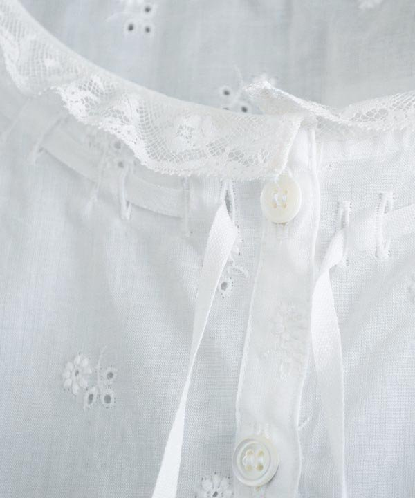 Cotton Embroidery Lace Camisole(ホワイト)