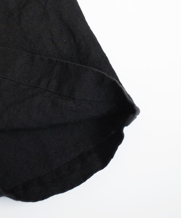 リネンルーミーパンツ(ブラック)