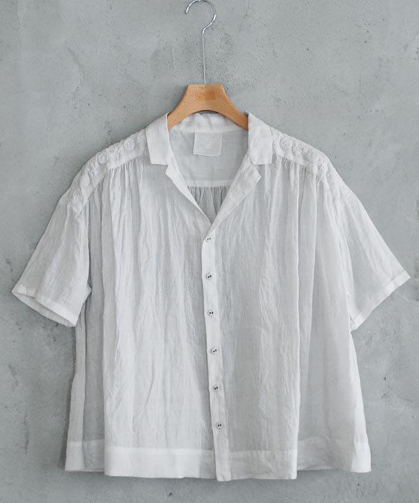 宴の音色 開襟シャツ(ライトグレー)