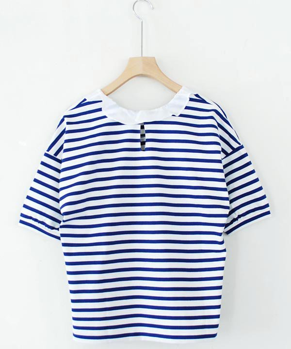 """【SALE:30%off】gasa*grue / """"バカンス""""  コンビフリルプル(ボーダー) <img class='new_mark_img2' src='https://img.shop-pro.jp/img/new/icons16.gif' style='border:none;display:inline;margin:0px;padding:0px;width:auto;' />"""