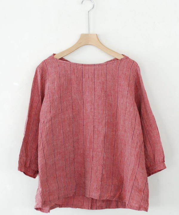【SALE:30%off】Bohemian Stripe ボートネックプルオーバー<img class='new_mark_img2' src='https://img.shop-pro.jp/img/new/icons16.gif' style='border:none;display:inline;margin:0px;padding:0px;width:auto;' />