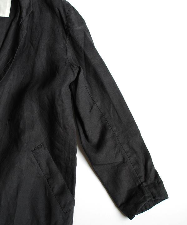 pajama look  チェスターコート(ブラック)