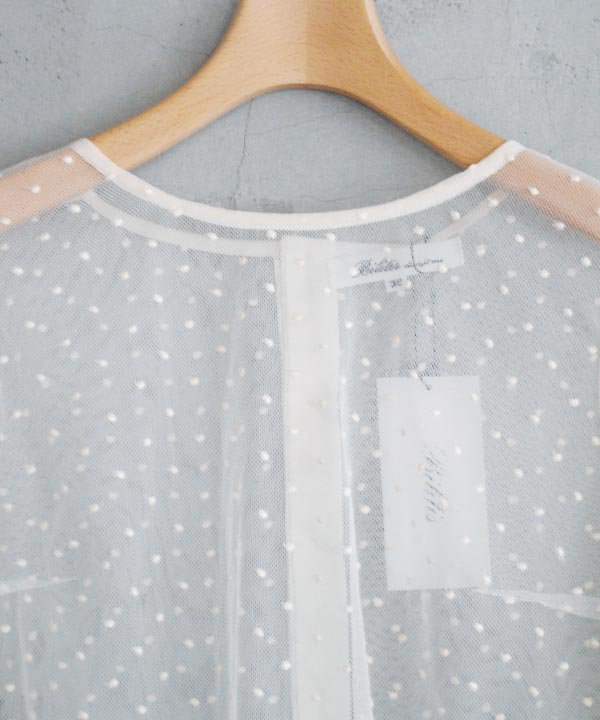 【SALE:30%off】Dot Lace Blouse(ベージュ)<img class='new_mark_img2' src='https://img.shop-pro.jp/img/new/icons16.gif' style='border:none;display:inline;margin:0px;padding:0px;width:auto;' />