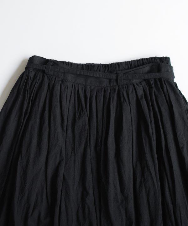 カディコットンギャザースカート(ブラック)