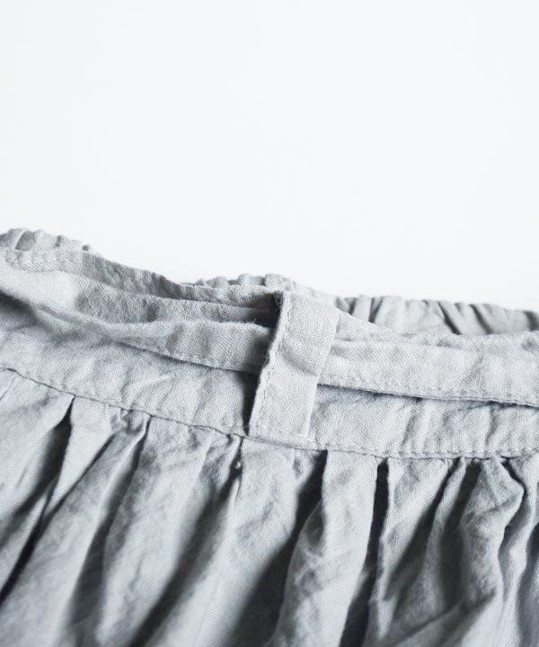 カディコットンギャザースカート(ライトグレー)