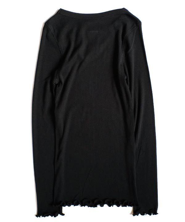 コットンカシミアテレコL/S T-SH(ブラック)