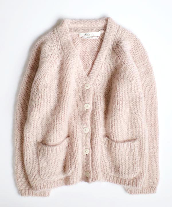 Mohair Cardigan(ペールピンク)