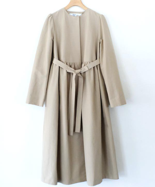 Grosgrain Coat(ベージュ)<img class='new_mark_img2' src='https://img.shop-pro.jp/img/new/icons1.gif' style='border:none;display:inline;margin:0px;padding:0px;width:auto;' />