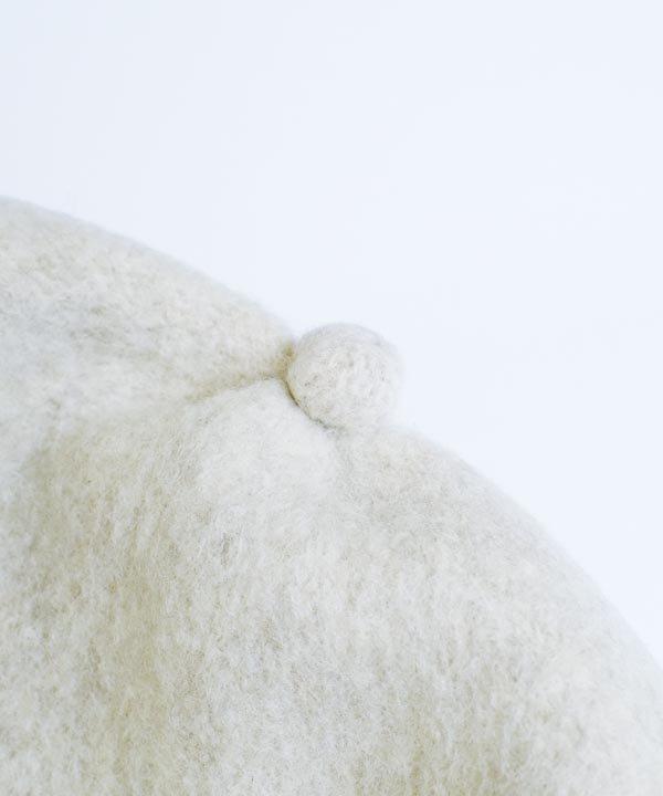 beret top gather rib lamb(エクリュ)