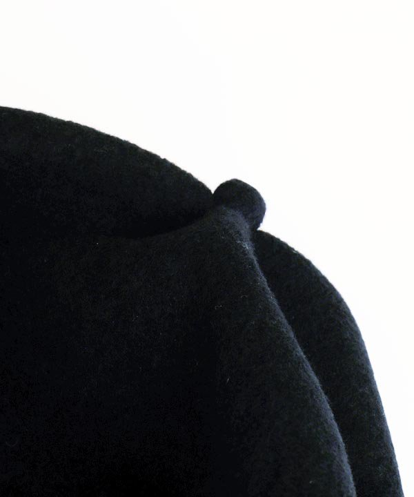 beret top gather rib lamb(ブラック)<img class='new_mark_img2' src='https://img.shop-pro.jp/img/new/icons1.gif' style='border:none;display:inline;margin:0px;padding:0px;width:auto;' />