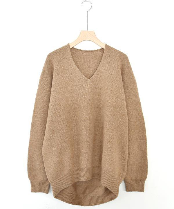 wholegarment  V/N pullover(キャメル)