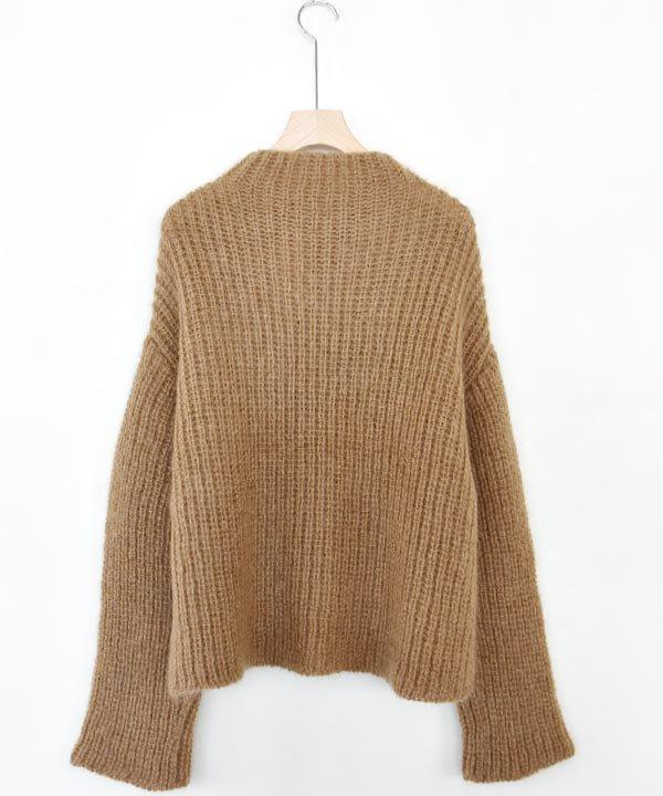 Wool Mohair Sweater(ブラウン)