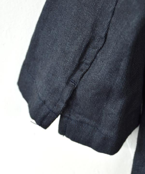 Winther Linen Twill アトリエコート(チャコール)