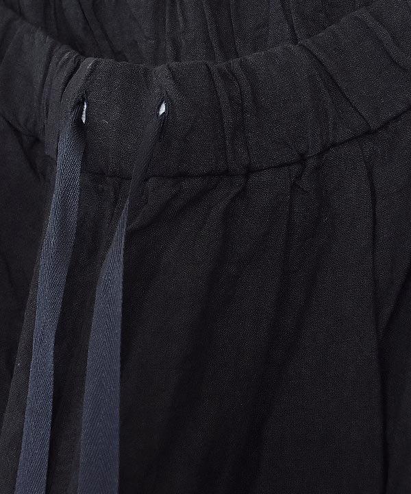 リネンルーミーロングパンツ(ブラック)