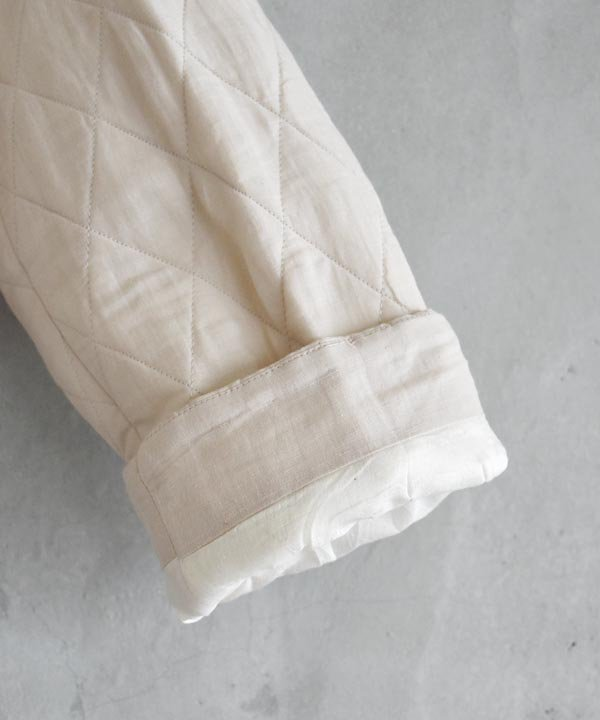 Khadhi Cotton Linen Embroidery Quilting Coat(ライトグレーベージュ)<img class='new_mark_img2' src='https://img.shop-pro.jp/img/new/icons1.gif' style='border:none;display:inline;margin:0px;padding:0px;width:auto;' />