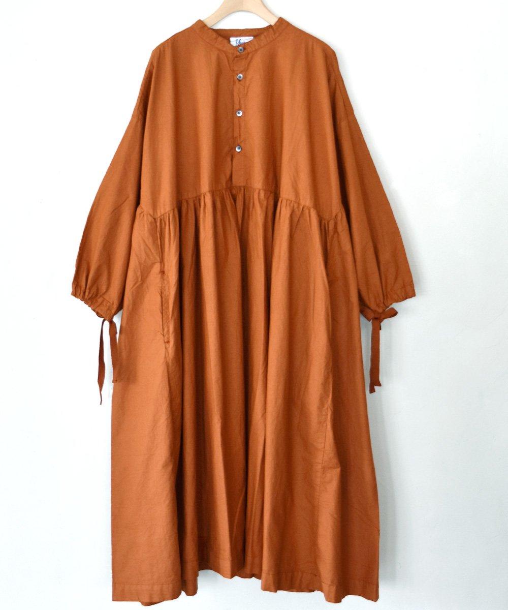 Gatherd Dress(テラコッタ)<img class='new_mark_img2' src='https://img.shop-pro.jp/img/new/icons1.gif' style='border:none;display:inline;margin:0px;padding:0px;width:auto;' />