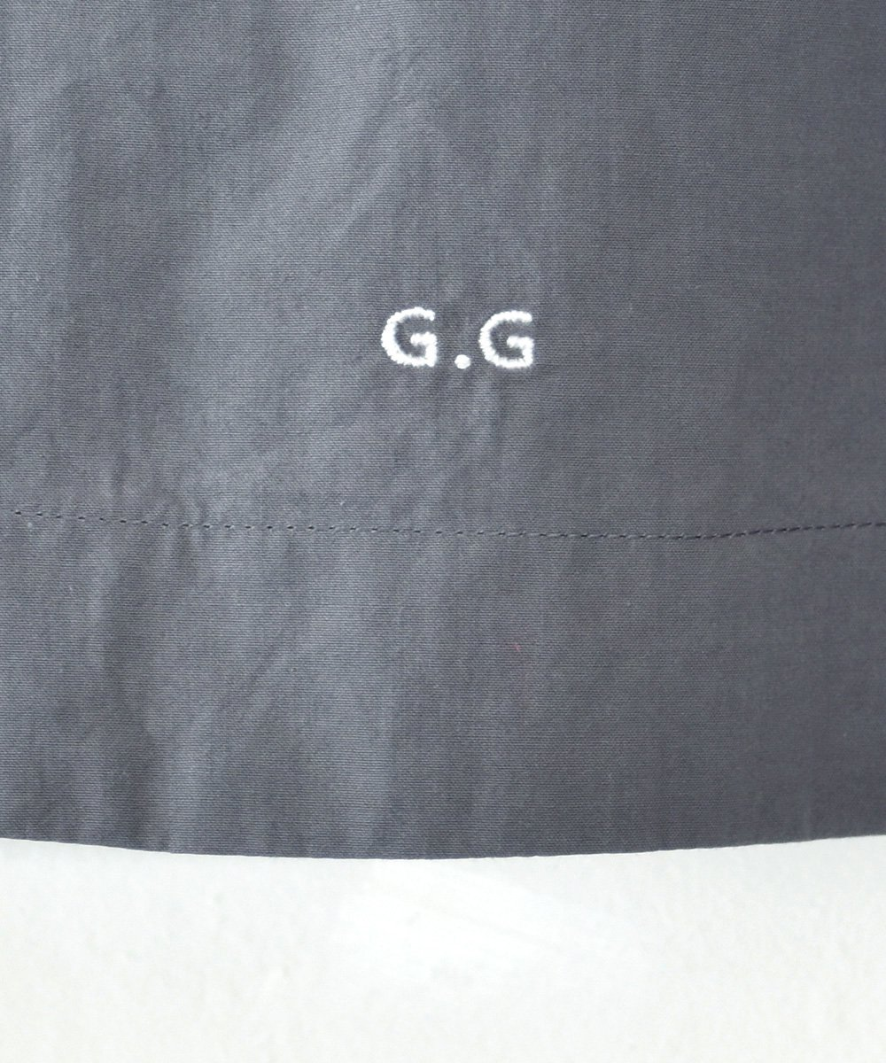 "gasa*grue / ""ピンクのカーテンの部屋"" ショートエプロン(グレー) <img class='new_mark_img2' src='https://img.shop-pro.jp/img/new/icons1.gif' style='border:none;display:inline;margin:0px;padding:0px;width:auto;' />"