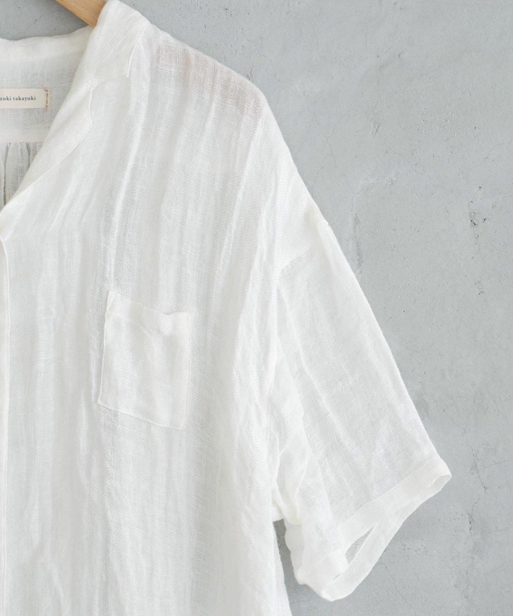 ikkuna/suzuki takayuki / open-collard shirt(white)<img class='new_mark_img2' src='https://img.shop-pro.jp/img/new/icons1.gif' style='border:none;display:inline;margin:0px;padding:0px;width:auto;' />